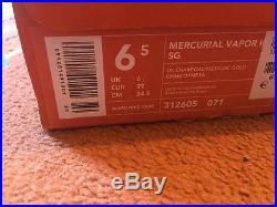 2006 MV Nike Mercurial Vapor III SG NEW, ITALY 6.5 US tiempo superfly R9 ronaldo