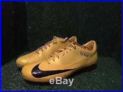Match issued Nike Vapor Superfly V Yellow Black Mercurial