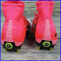 Mens Nike Mercurial Superfly V DF SG-PRO, Pink/White-Black Sz 10.5 889286 601