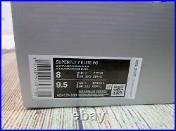 NEW $275 Nike Superfly 7 Elite FG Mercurial White Laser Crimson Soccer Cleats 8