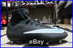 NEW Nike ID Mercurial Superfly SG-PRO Nike iD Women Size 10 Black/Blue