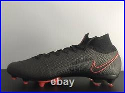 NEW Nike Mercurial Superfly 7 Elite AG Size 9.5 Black And Red Soccer Cleats