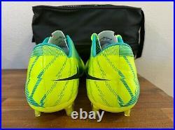 NIKE Mercurial Vapor Superfly III FG Soccer Cleats Volt/Purple/Retro 441972-754