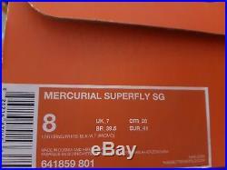 Neu Nike Mercurial Superfly IV Sg Pro Uk 7 Eu 41 Fußballschuhe Football Boots