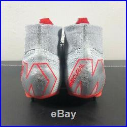 New Mens Nike Mercurial Superfly 6 Elite SG Pro Cleats Grey Red Sz 11 AH7421 061