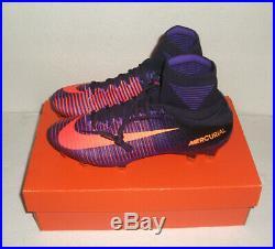 New Nike Mercurial Superfly V FG Soccer, Men's Size 8.5, Purple, 831940-585