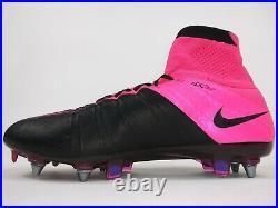 Nike Men Rare Mercurial Superfly Lthr SG-Pro 747220 006 Pink Soccer Size 9.5
