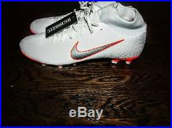 Nike Men's Mercurial Superfly 6 Club MG Soccer Cleats (White/Orange) Size 10