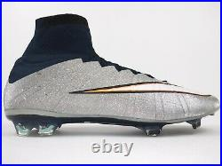 Nike Mens Rare Mercurial Superfly CR7 FG 677927 003 Silver Soccer Cleats Size 12