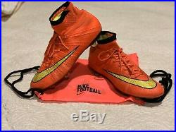 Nike Mercurial Superfly 4 FG / Size 10.5 / Hyper Punch, Gold, Black / Used (9/10)