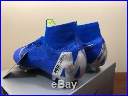 Nike Mercurial Superfly 6 Elite FG 360 AH7365-400 Soccer Cleat Size 10.5 Blue