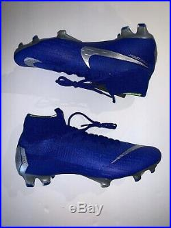 Nike Mercurial Superfly 6 Elite FG 360 AH7365-400 Soccer Cleats SZ 10 Blue