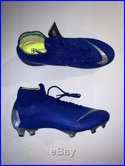Nike Mercurial Superfly 6 Elite FG 360 AH7365-400 Soccer Cleats SZ 9.5 Blue