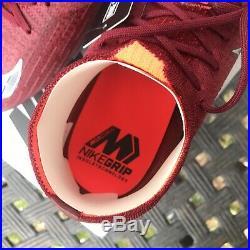 Nike Mercurial Superfly 6 Elite FG AH7365-606 Sz 11.5 Team Red MTLC Dark Grey