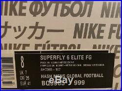 Nike Mercurial Superfly 6 Elite FG Acc Top Spec Uk7 Eur41 Us8 Legend Phantom