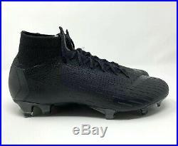 Nike Mercurial Superfly 6 Elite FG Black Cleats (AH7365-001) Men's Size 9