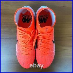 Nike Mercurial Superfly 6 Elite FG Crimson Black White AH7365-801 Men's Size 10