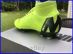 Nike Mercurial Superfly 6 Elite FG Mens Sz 9 Volt Soccer Cleats AH7365-701