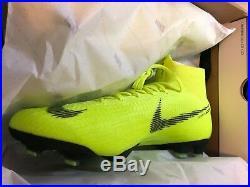 Nike Mercurial Superfly 6 Elite FG Size 10 Mens Volt/Black