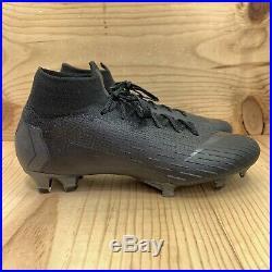Nike Mercurial Superfly 6 Elite FG Size 8.5 Black Soccer Cleats Boots Futbol