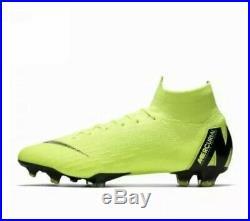 Nike Mercurial Superfly 6 Elite FG Soccer Cleats Volt AH7365 701 size 11 $275