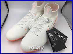 Nike Mercurial Superfly 6 Elite FG Soccer Cleats White AH7365-107 NEW Men's 10
