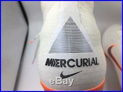 Nike Mercurial Superfly 6 Elite FG Soccer Cleats White AH7365-107 NEW Men's 10.5