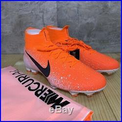 Nike Mercurial Superfly 6 Elite FG Sz 11 Crimson Orange White Soccer Cleats