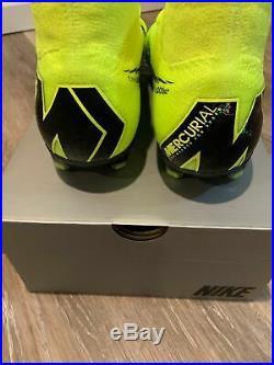 Nike Mercurial Superfly 6 Elite FG Volt/Blk Soccer(AH7365-701) Cleats NIB