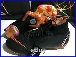 Nike Mercurial Superfly 6 Elite Fg Soccer Cleats Size 9 Black Orange Ah7365-081