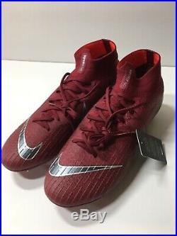 Nike Mercurial Superfly 6 VI 360 Elite FG Team Red/Dark Grey AH7365-606 Size 9.5