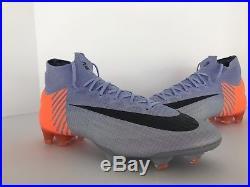 Nike Mercurial Superfly 6 VI Elite Fg 360 ID Prpl/ornge/blk Sz. 10 (ao2124-501)