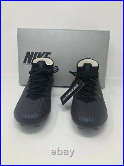 Nike Mercurial Superfly 7 Elite FG Black Soccer AQ4174-010 Men's Size 8.5