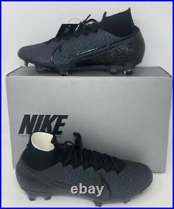 Nike Mercurial Superfly 7 Elite FG Black Soccer AQ4174-010 Men's Size 9.5