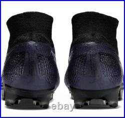 Nike Mercurial Superfly 7 Elite FG Black Soccer Cleats AQ4174-010 Men's Size 10
