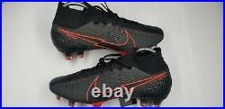 Nike Mercurial Superfly 7 Elite FG Flyknit ACC Soccer Cleats Black/Red Sz 8.5 M