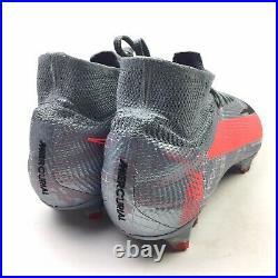 Nike Mercurial Superfly 7 Elite FG Grey Laser Crimson Mens Size 9 AQ4174-906