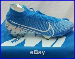 Nike Mercurial Superfly 7 Elite FG Sky Blue Soccer Cleats AQ4174-414 Size 10