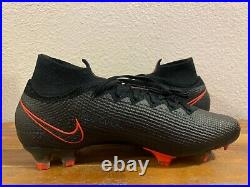 Nike Mercurial Superfly 7 Elite FG Soccer Cleats Black Red AQ4174-060 Size 10