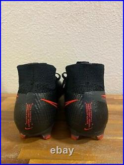 Nike Mercurial Superfly 7 Elite FG Soccer Cleats Black Red AQ4174-060 Size 10.5