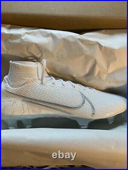 Nike Mercurial Superfly 7 Elite FG Soccer Cleats, Size 9 Men White Rare