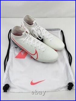 Nike Mercurial Superfly 7 Elite FG White Soccer Cleats Mens Size 10.5 AQ4174-160