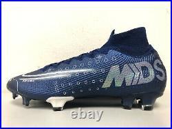 Nike Mercurial Superfly 7 Elite MDS FG Blue Void BQ5469 401 Mens Size 9 SAMPLE