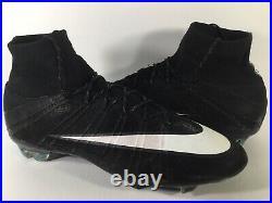 Nike Mercurial Superfly CR7 FG Black Neo Turquoise White Men Size 12 Rare Soccer