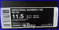 Nike Mercurial Superfly CR7 SE 324K Gold 839622-109 Cristiano Ronaldo Size 11.5
