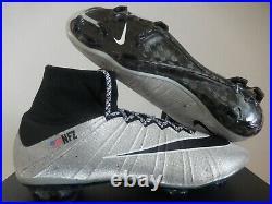 Nike Mercurial Superfly Fg ID Silver-black Sz 11.5 651789-997