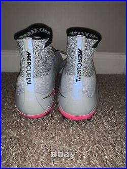 Nike Mercurial Superfly Fg Wolf Grey/Pink 641858 061 Size 12