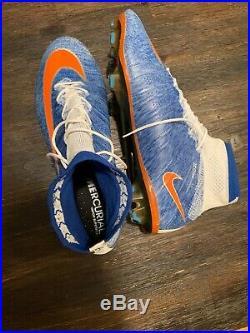 Nike Mercurial Superfly IV FG Mens Size 9.5 Hyper Royal/White (2014) 641858-418