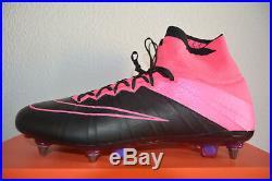 Nike Mercurial Superfly Leather Sg-pro 747220 006 Black/black-hyper Pink Uk10