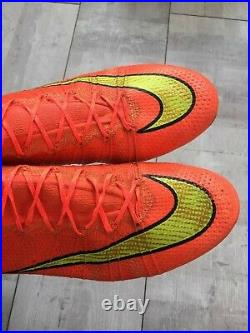 Nike Mercurial Superfly SG-PRO Football Cleats Orange Boots US11 UK10 CR7 Bosnia